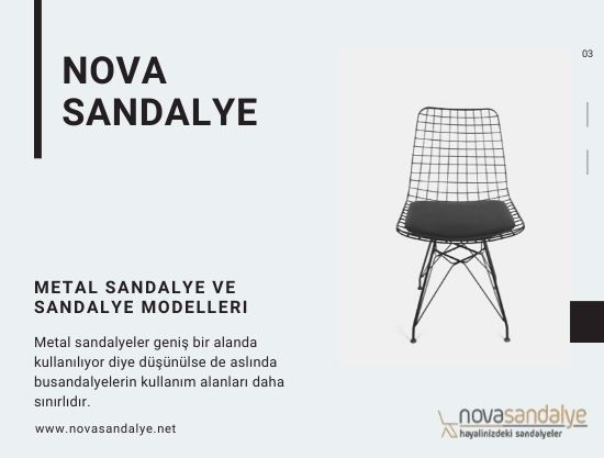 Metal Sandalye ve Sandalye Modelleri
